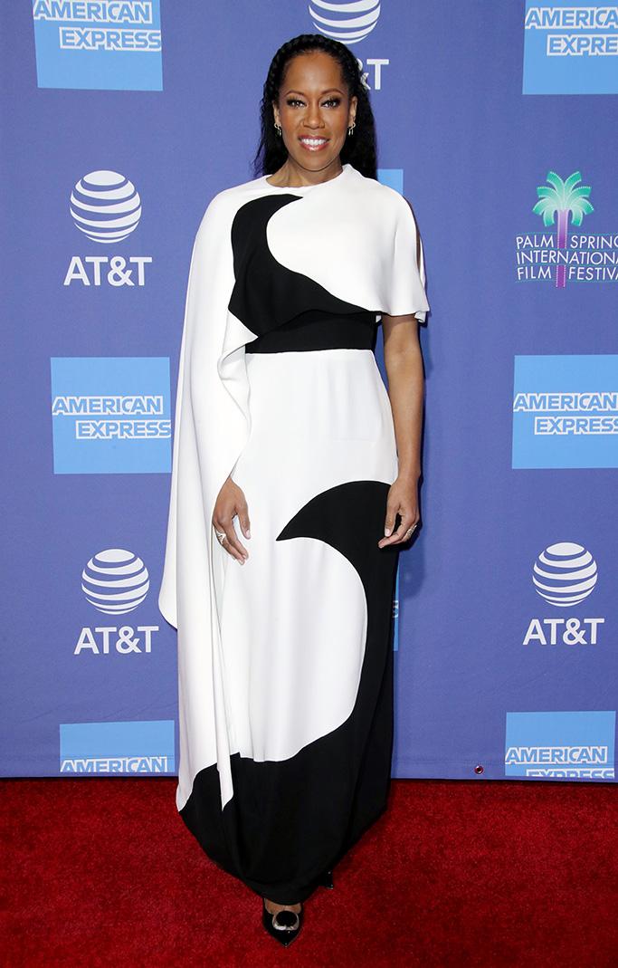 Regina King Palm Springs International Film Festival Film Awards Gala, Arrivals, USA - 03 Jan 2019Wearing Valentino same outfit as catwalk model *9998176ba