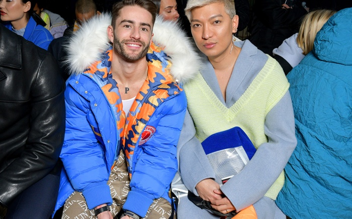 Pelayo Diaz and Bryanboy in the front rowAcne Studios show, Front Row, Fall Winter 2019, Paris Fashion Week Men's, France - 16 Jan 2019
