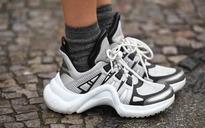 Street Style, shoe detail Street Style, Fall Winter 2019, Mercedes Benz Fashion Week, Berlin, Germany - 16 Jan 2019