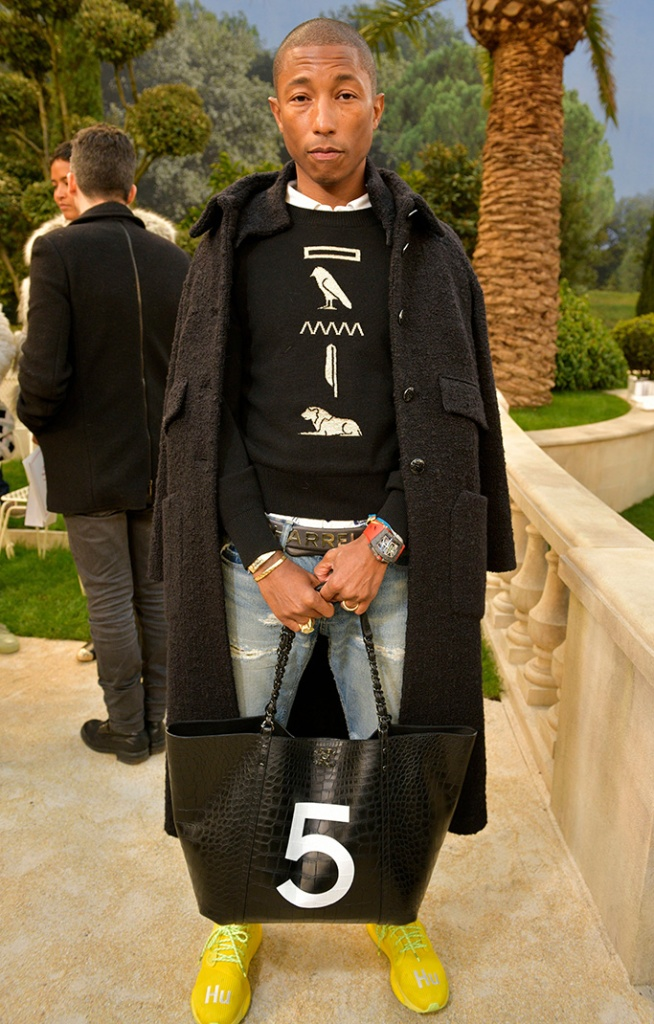Pharrell Williams in the front rowChanel show, Front Row, Spring Summer 2019, Haute Couture Fashion Week, Paris, France - 22 Jan 2019