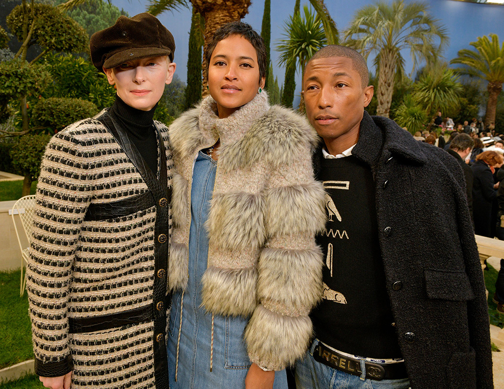 Tilda Swinton, Helen Lasichanh and Pharrell Williams in the front rowChanel show, Front Row, Spring Summer 2019, Haute Couture Fashion Week, Paris, France - 22 Jan 2019
