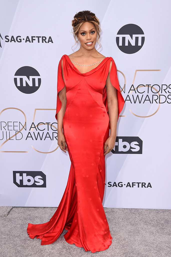 Laverne Cox, 25th Annual Screen Actors Guild Awards, Arrivals, Los Angeles, USA - 27 Jan 2019