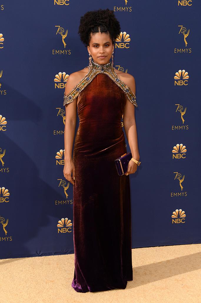 Zazie Beetz 70th Primetime Emmy Awards, Arrivals, Los Angeles, USA - 17 Sep 2018WEARING RALPH LAUREN SAME OUTFIT AS CATWALK MODEL *9876386bj