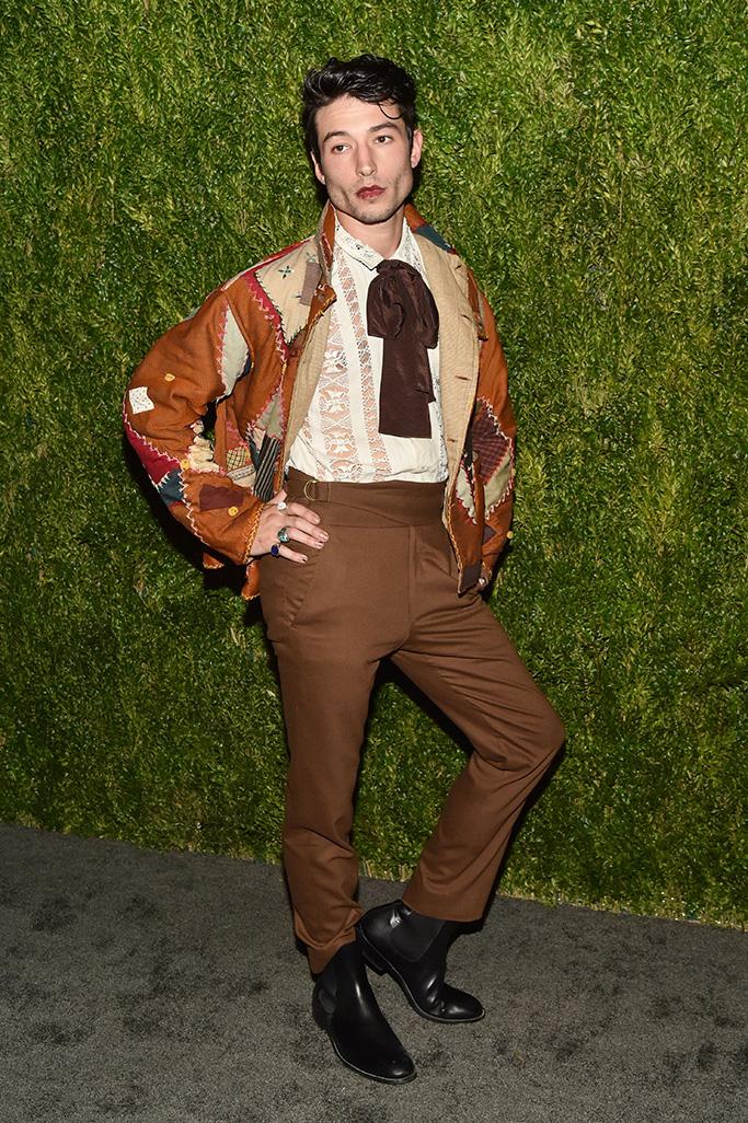 Ezra Miller 15th Annual CFDA Vogue Fashion Fund Awards, Arrivals, New York, USA - 05 Nov 2018Wearing Bode