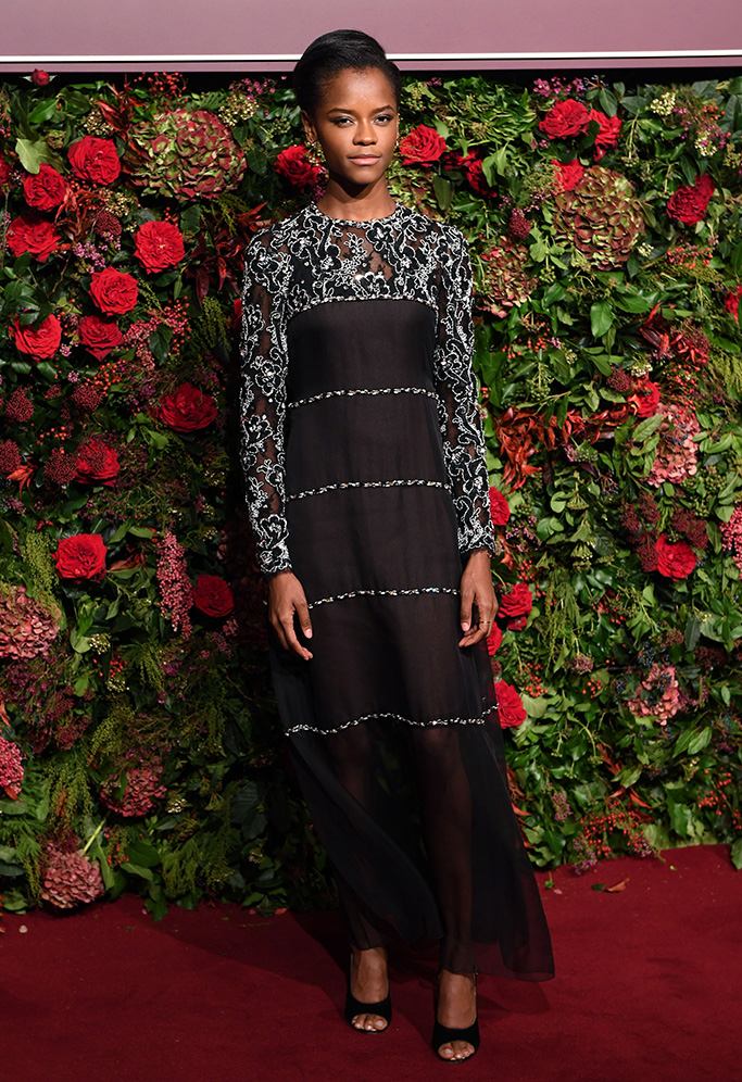 Letitia Wright Evening Standard Theatre Awards, Arrivals, London, UK - 18 Nov 2018Wearing Chanel Same Outfit as catwalk model *9444704cb