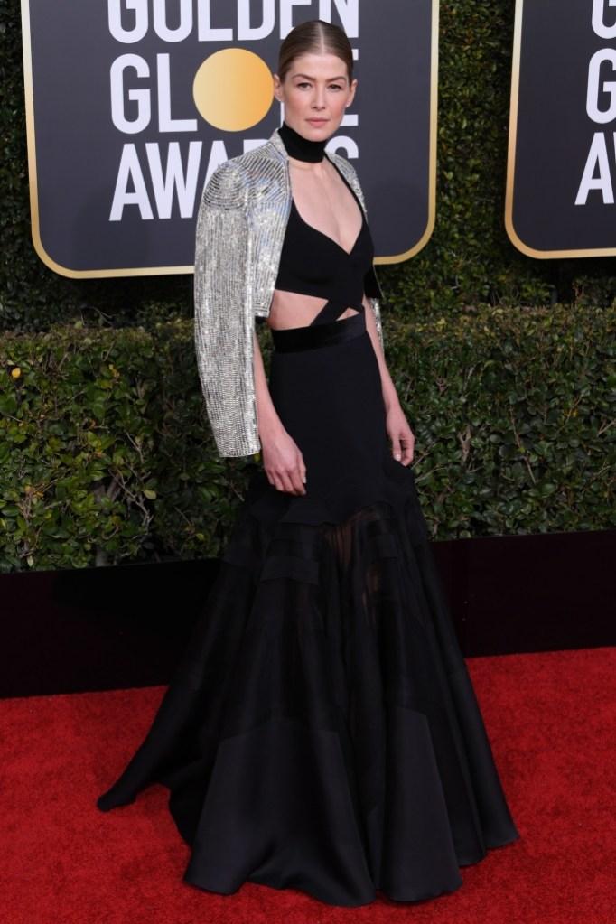 Rosamund Pike, red carpet, celebrity style, fashion