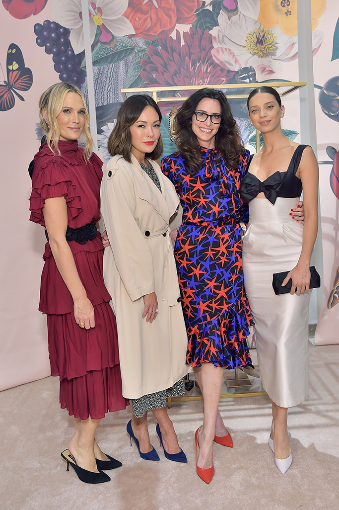 BEVERLY HILLS, CA - JANUARY 17: (L-R) Molly Sims, Lindsay Price, Elizabeth Stewart and Angela Sarafyan attend Sergio Rossi & Elizabeth Stewart Celebrate Capsule Collection at Pop-Up at Westfield Century City on January 17, 2019 in Beverly Hills, California. (Photo by Stefanie Keenan/Getty Images for Sergio Rossi )