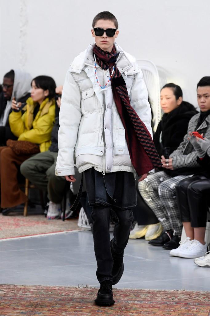 sacai, nike, runway, fall 2019, puffer jacket