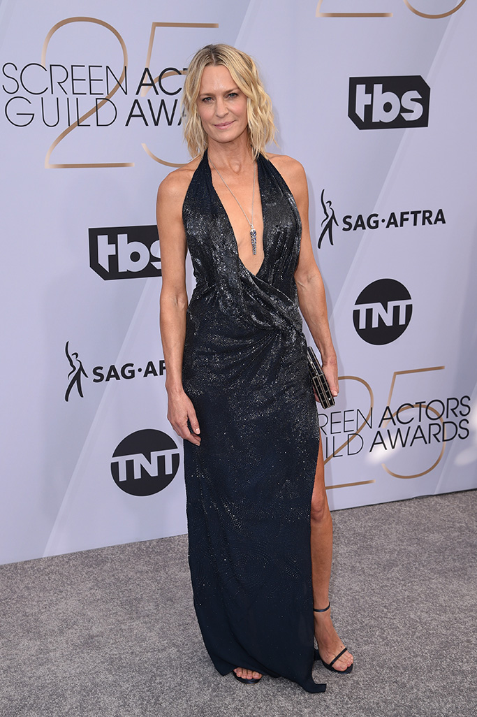 Robin Wright, 25th Annual Screen Actors Guild Awards, Arrivals, Los Angeles, USA - 27 Jan 2019