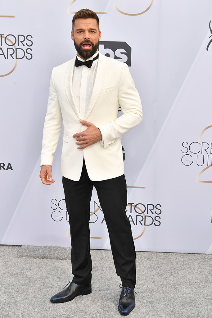Ricky Martin, 25th Annual Screen Actors Guild Awards, Arrivals, Los Angeles, USA - 27 Jan 2019