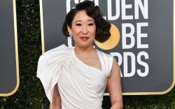 Sandra Oh, red carpet, golden globes