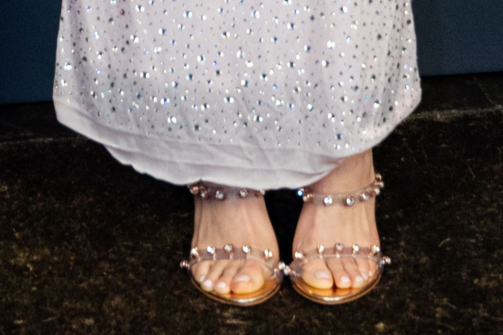 saoirse ronan, sandals, celebrity shoe style, sophia webster, red carpet