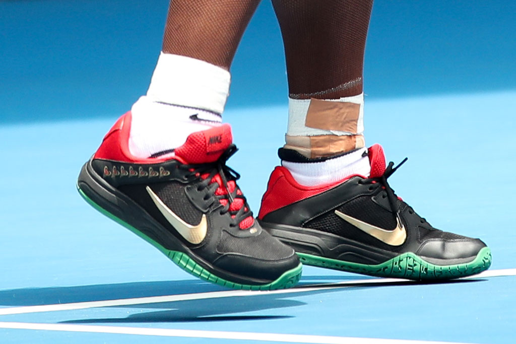 serena williams, australian open, sneakers, on court style