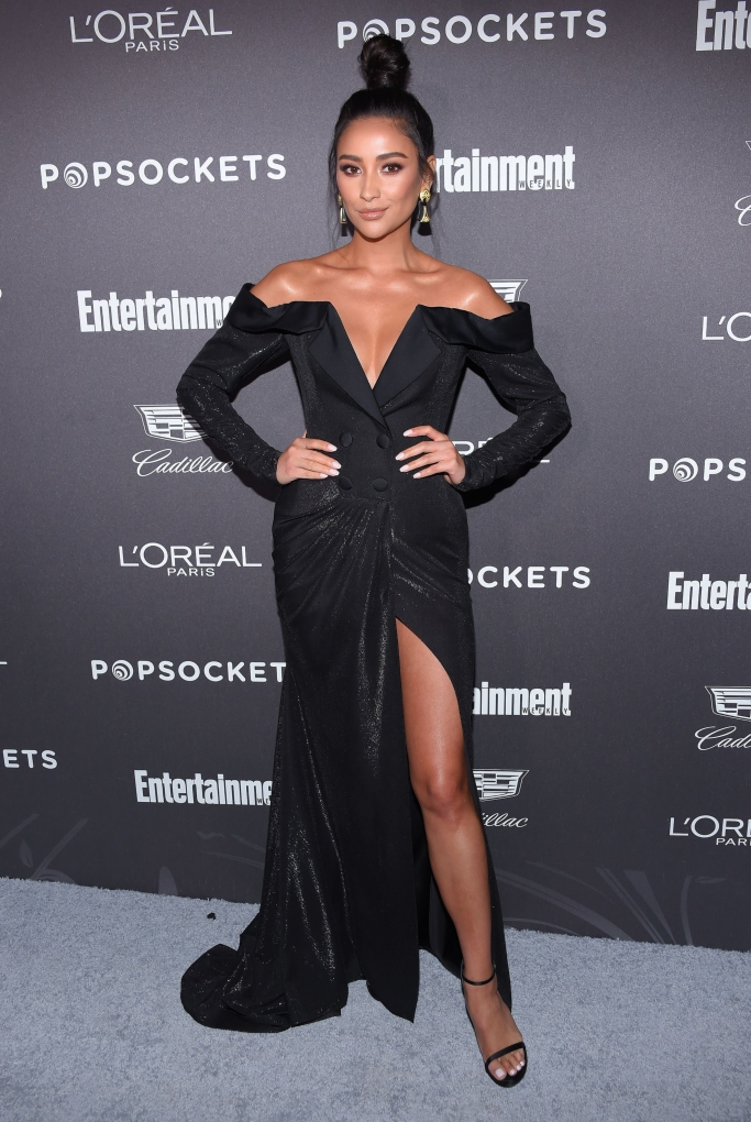 shay mitchell, Ester Abner gown,