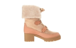 shearling lined boots see by chloe