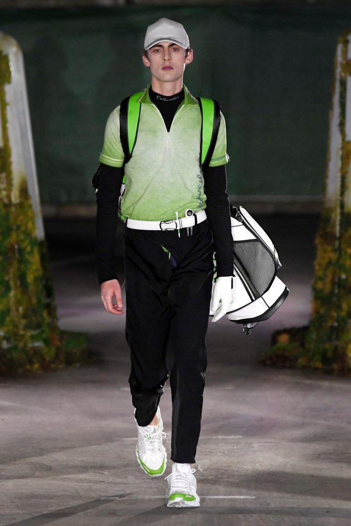 Model on the catwalkCottweiler show, Runway, Fall Winter 2019, London Fashion Week Men's, UK - 06 Jan 2019