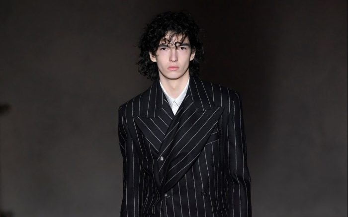 Model on the catwalkY/Project show, Runway, Fall Winter 2019, Pitti Immagine Uomo, Florence, Italy - 09 Jan 2019
