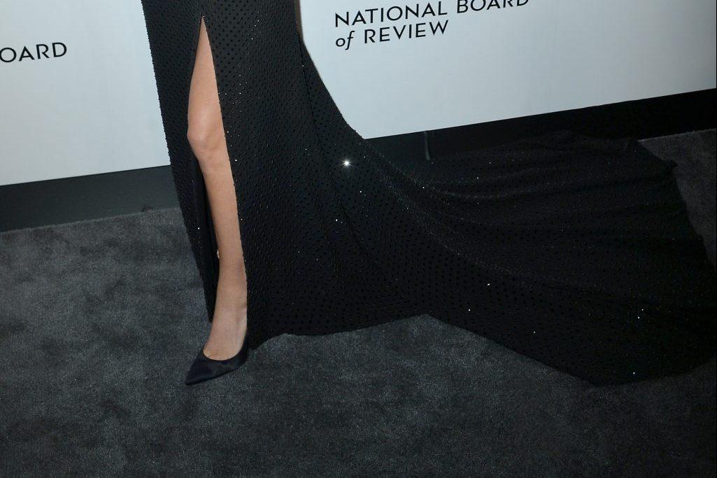 Lady Gaga, gianvito rossi pumps, National Board of Review Awards Gala, Arrivals, New York, USA - 08 Jan 2019Wearing, Ralph Lauren dress