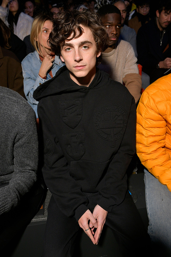 Timothee Chalamet in the front rowLouis Vuitton show, Front Row, Fall Winter 2019, Paris Fashion Week Men's, France - 17 Jan 2019