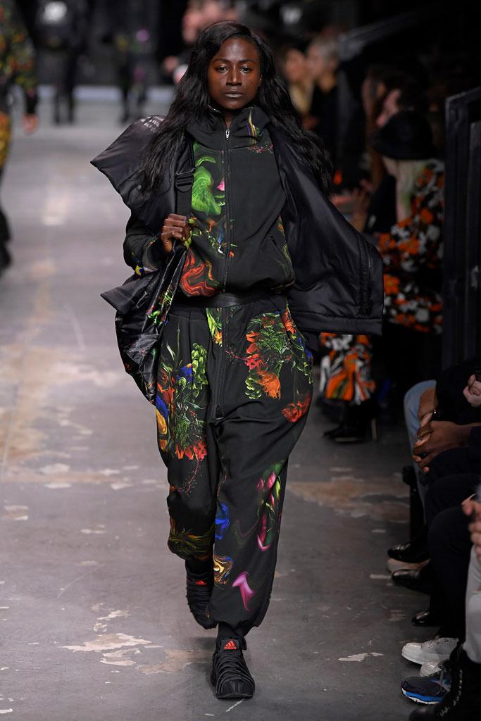 Torie Bowie, adidas y-3, runway, pfw men's
