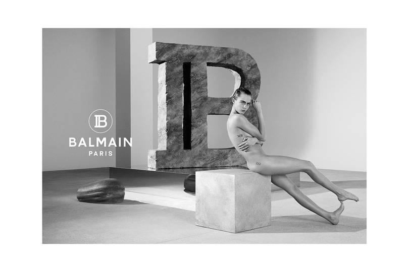 Balmain campaign featuring Cara Delevingne.