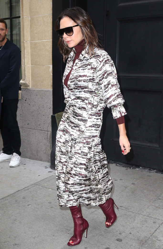 Victoria Beckham, open toe boots