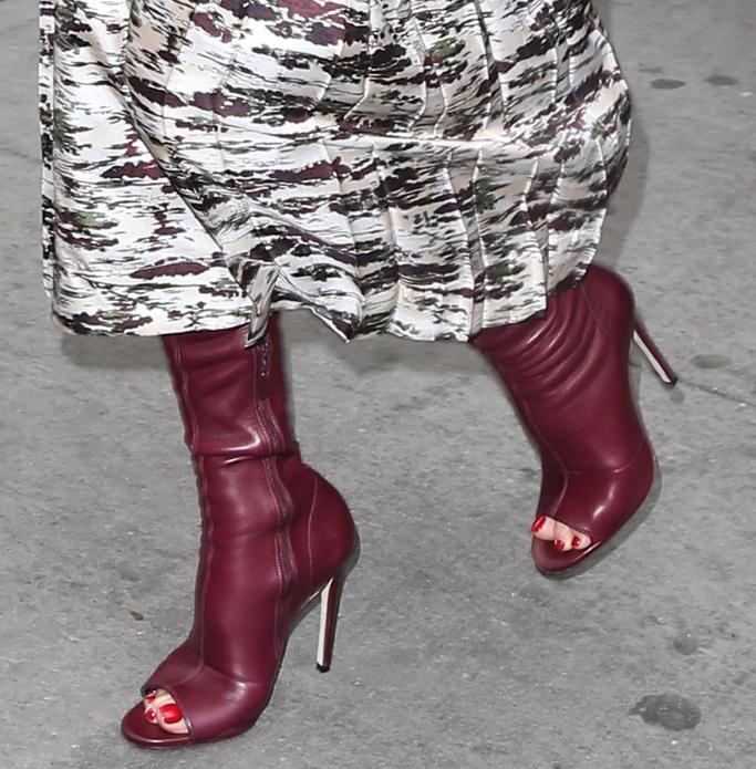 victoria beckham open toe boots