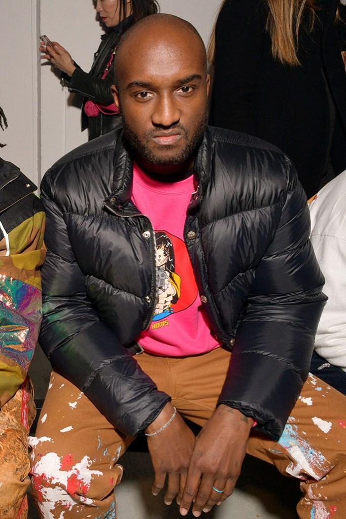 Virgil Abloh in the front rowHeron Preston show, Front Row, Fall Winter 2019, Paris Fashion Week Men's, France - 15 Jan 2019