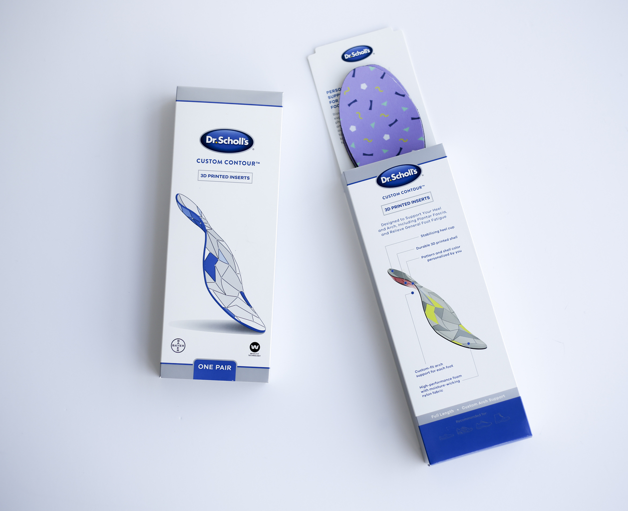 Dr. Scholl's 3D printed insoles.