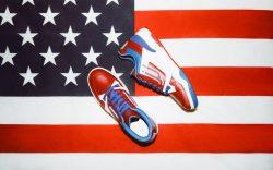 Bally patriotic sneaker.