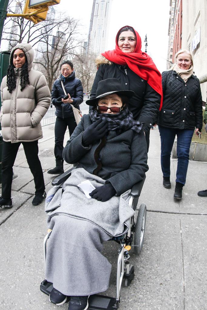 Yoko Ono, women's march, january 2019