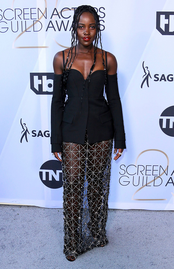 Lupita Nyong'o arrives at the 25th annual Screen Actors Guild Awards at the Shrine Auditorium & Expo Hall, in Los Angeles25th Annual SAG Awards - Arrivals, Los Angeles, USA - 27 Jan 2019