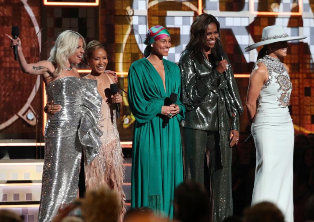 2019 grammys, Lady Gaga, Jada Pinkett Smith, Alicia Keys, Michelle Obama, Jennifer Lopez