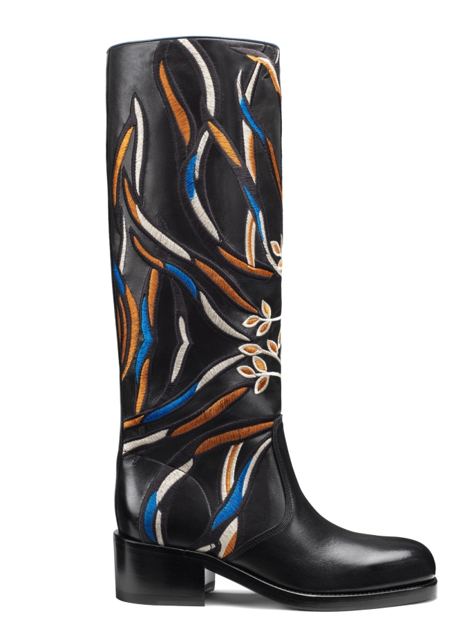 Santoni embroidered Gaucho boot