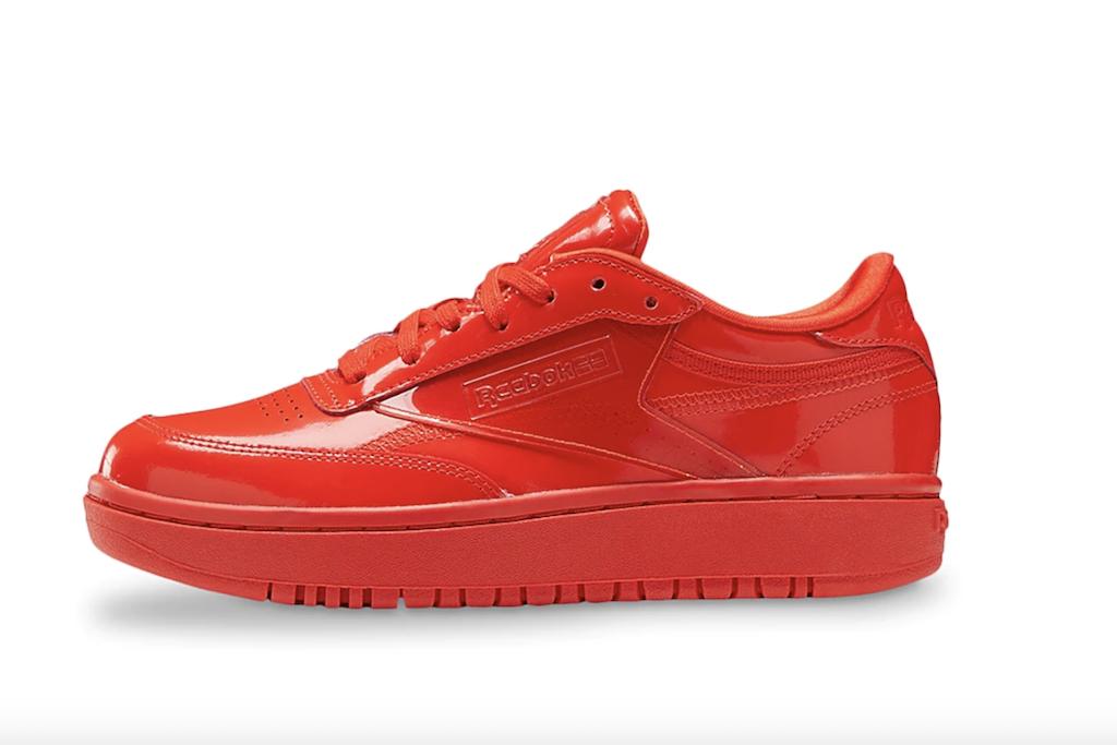 Red Sneakers for Women, Reebok Cardi Coated Club C Double Sneaker