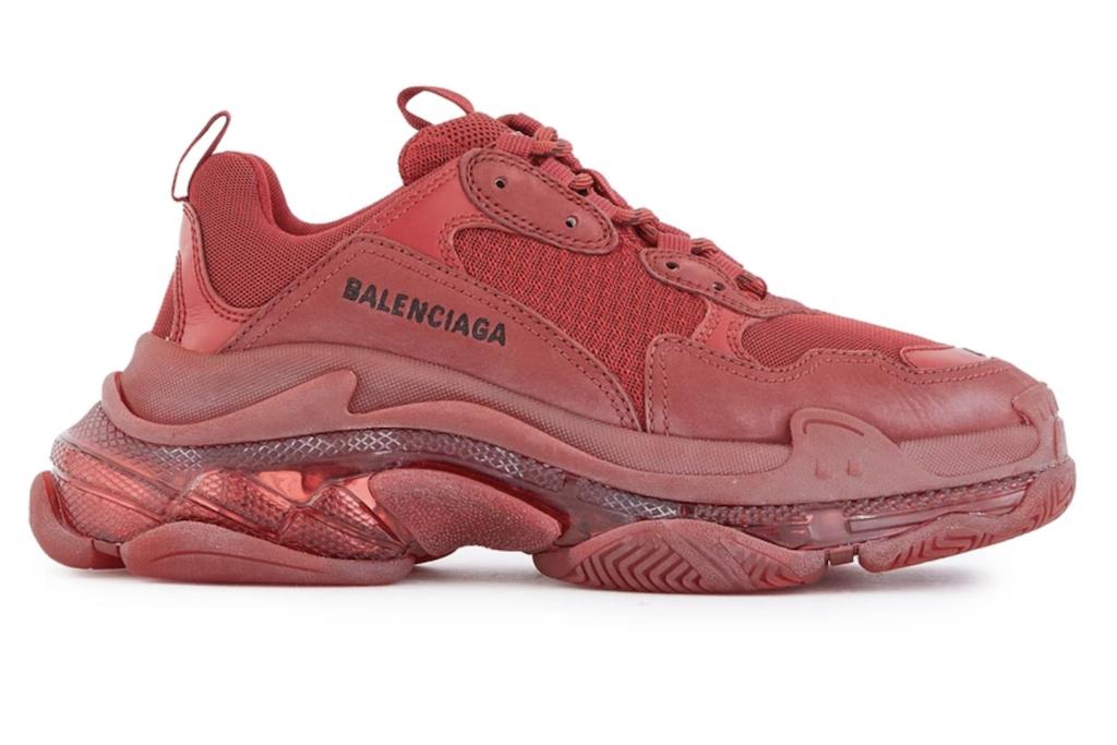 Balenciaga Triple S, Red Sneakers for Women