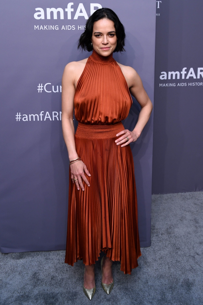 michelle rodriguez, amfar gala 2019, new york fashion week, A.L.C.