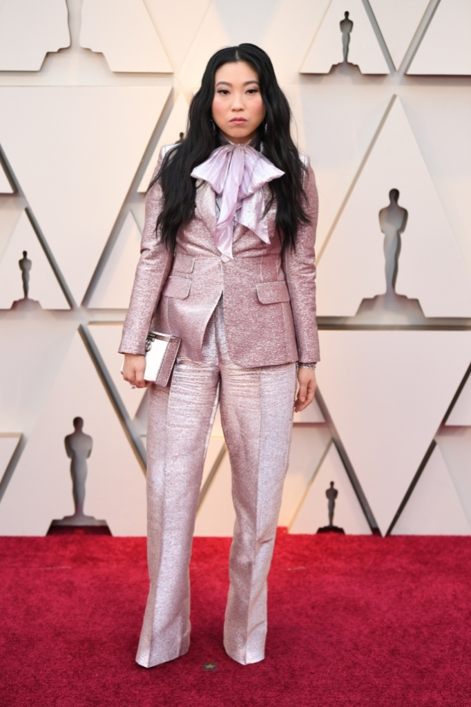 Akwafina, dsquared2, red carpet, academy awards 2019, celebrity style