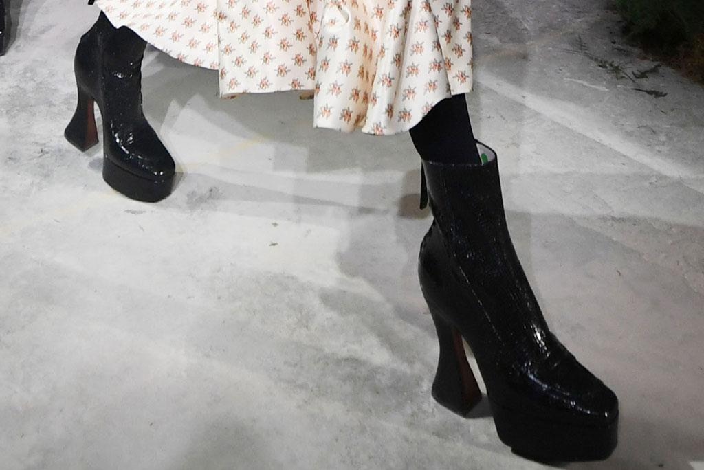 Alexa Chung, shoes, fall 2019, runway, lfw