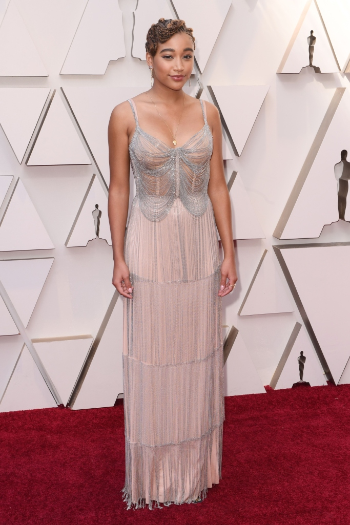 Amandla Stenberg wearing Miu Miu at the 2019 oscars