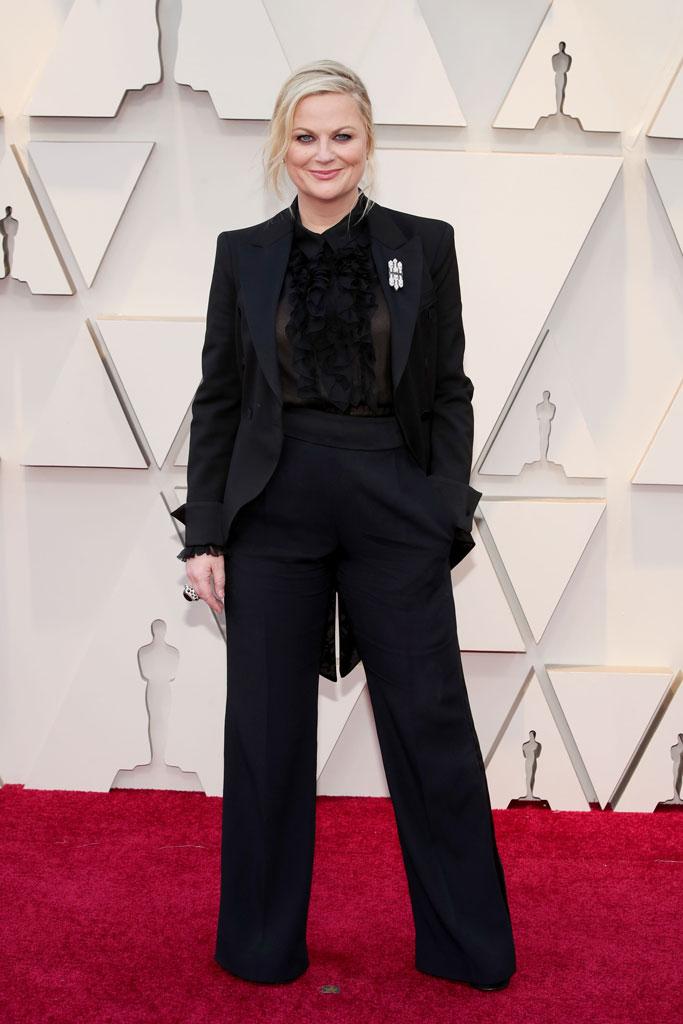 Amy Poehler, alberta ferretti, academy awards 2019, red capret,