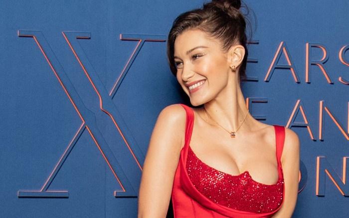 Bella HadidBulgari 20th anniversary party, Rome, Italy - 19 Feb 2019Wearing Versace