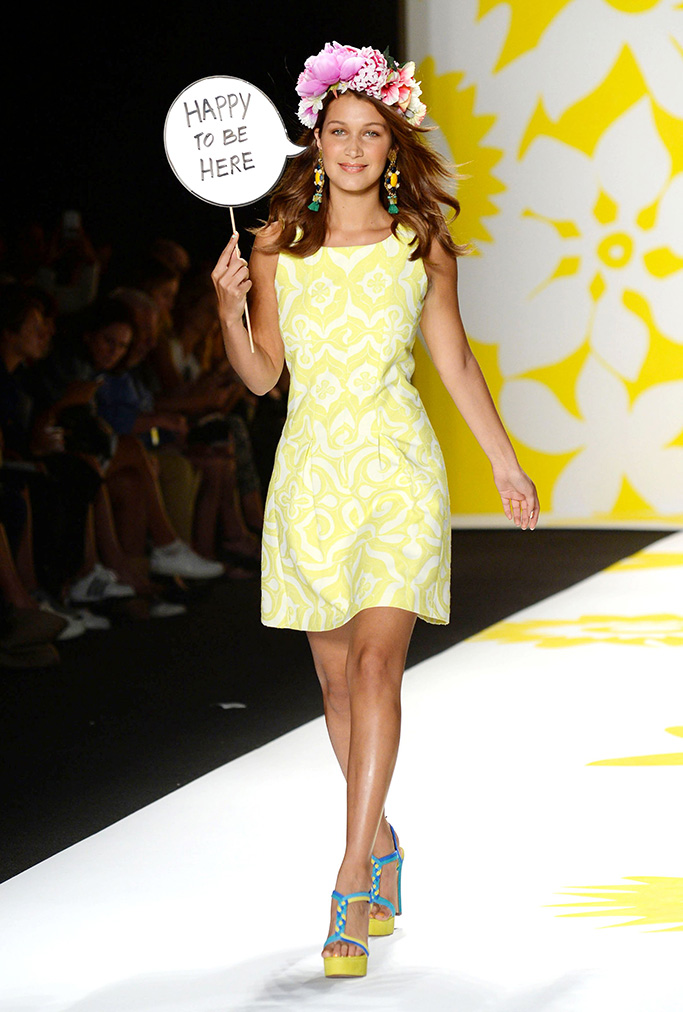 Model on catwalkDesigual show, Spring Summer 2015, Mercedes-Benz Fashion Week, New York, America - 04 Sep 2014