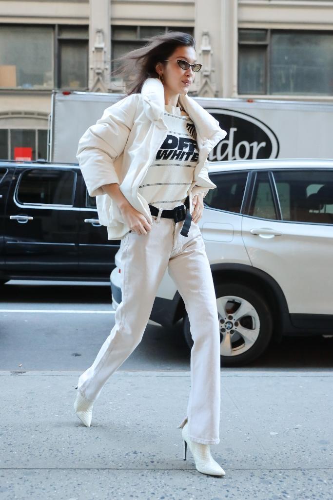 Bella Hadid, off-white
