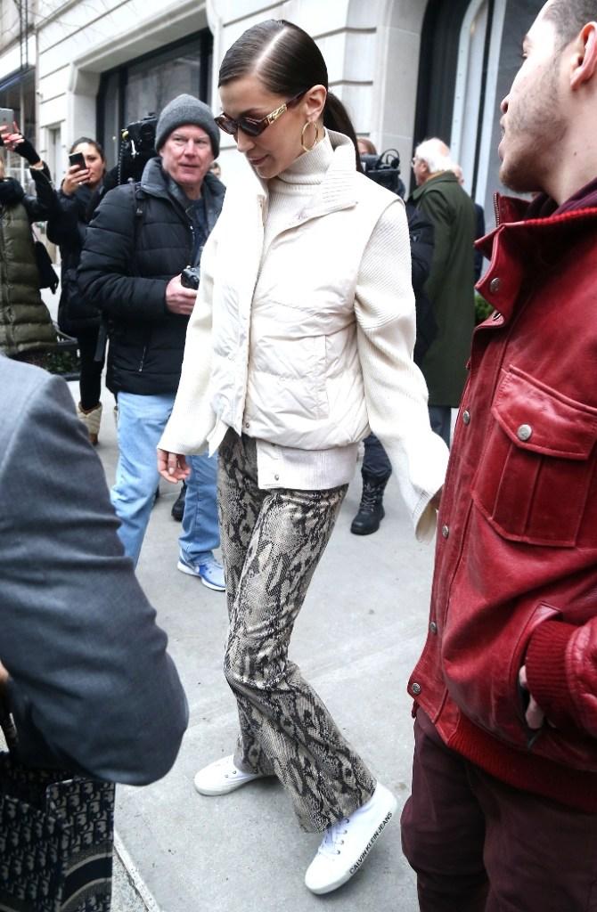 bella hadid, new york fashion week