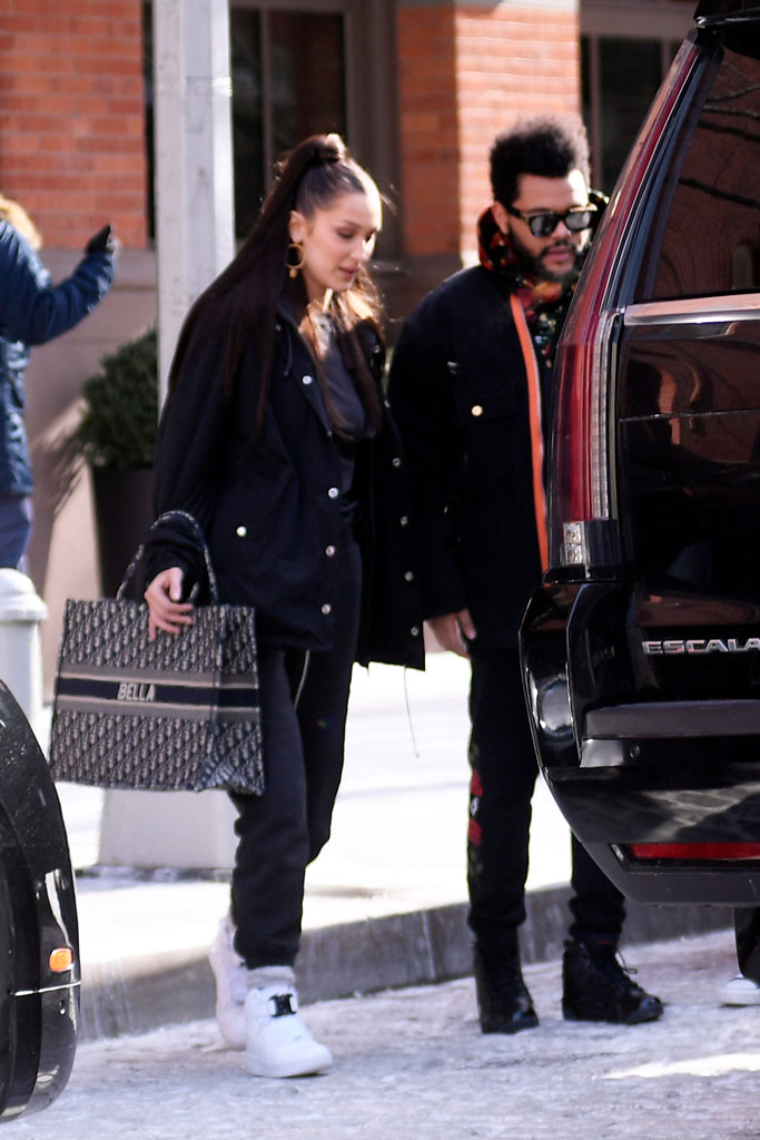 Bella Hadid, the weeknd, nyc, celebrity style, nike x alyx studio, air force 1, sneakers, date, dior,