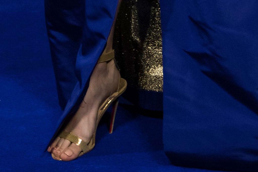 brie larson, christian louboutin, pvc, sandals