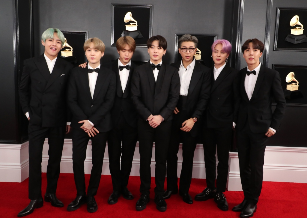 bts, grammy awards, red carpet, celebrity style, suits