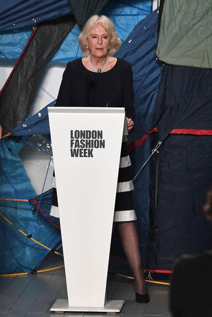 Camilla Parker-Bowles , london fashion week, queen elizabeth ii award, bethany williams