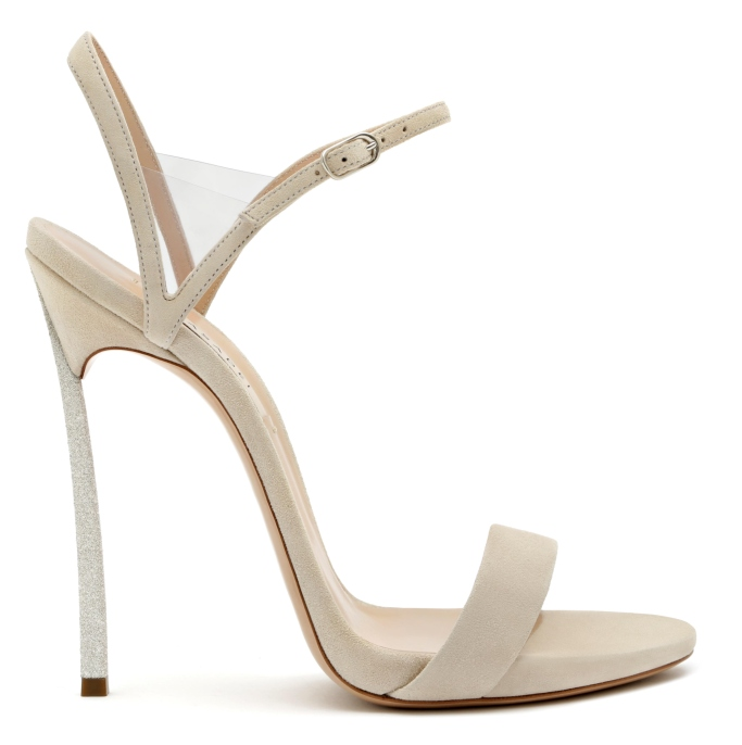 Casadei's diamond dust sandal
